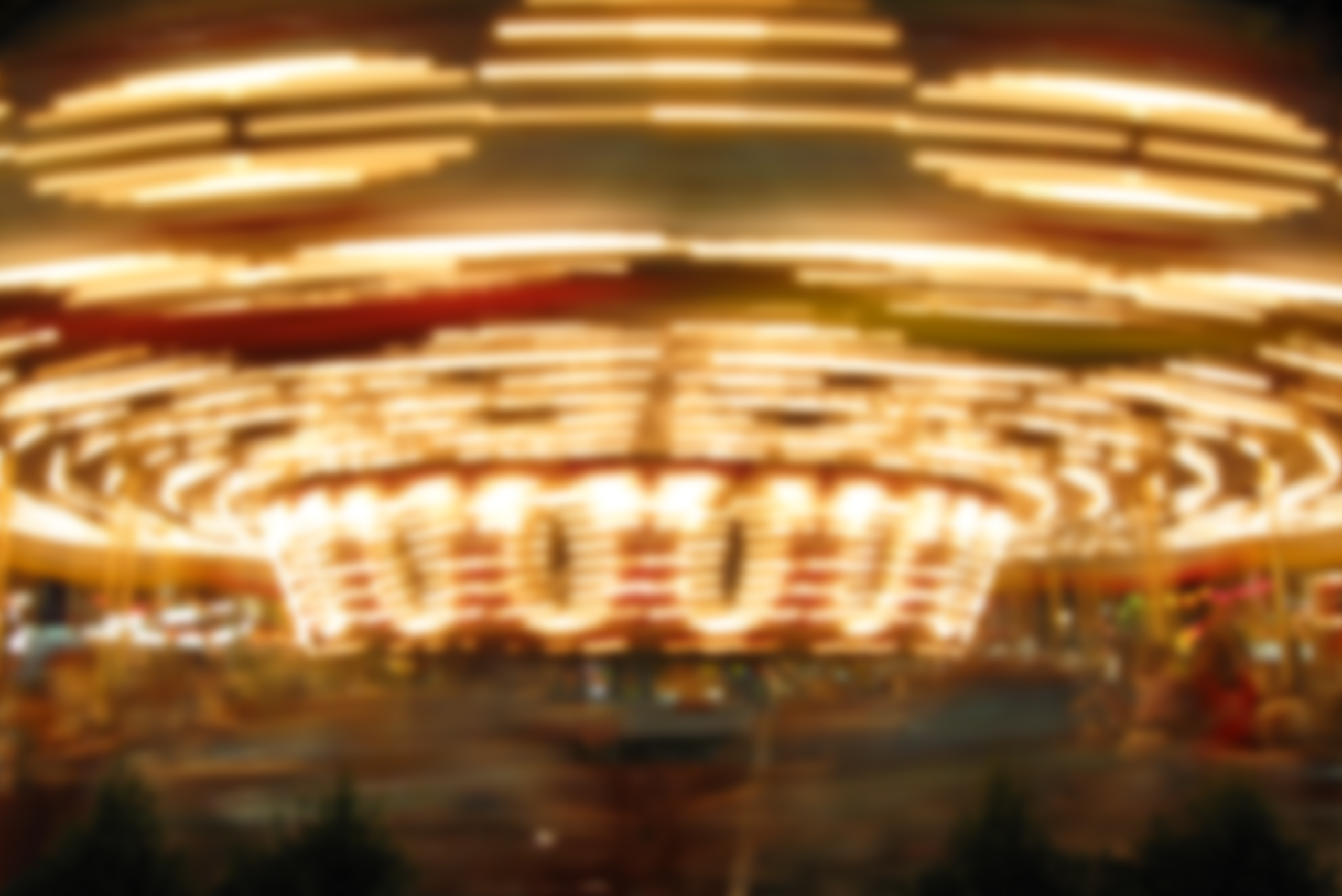 Blurry photo of the merry-go-round at the Arizona State Fair