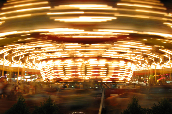 Photo of the merry-go-round at the Arizona State Fair