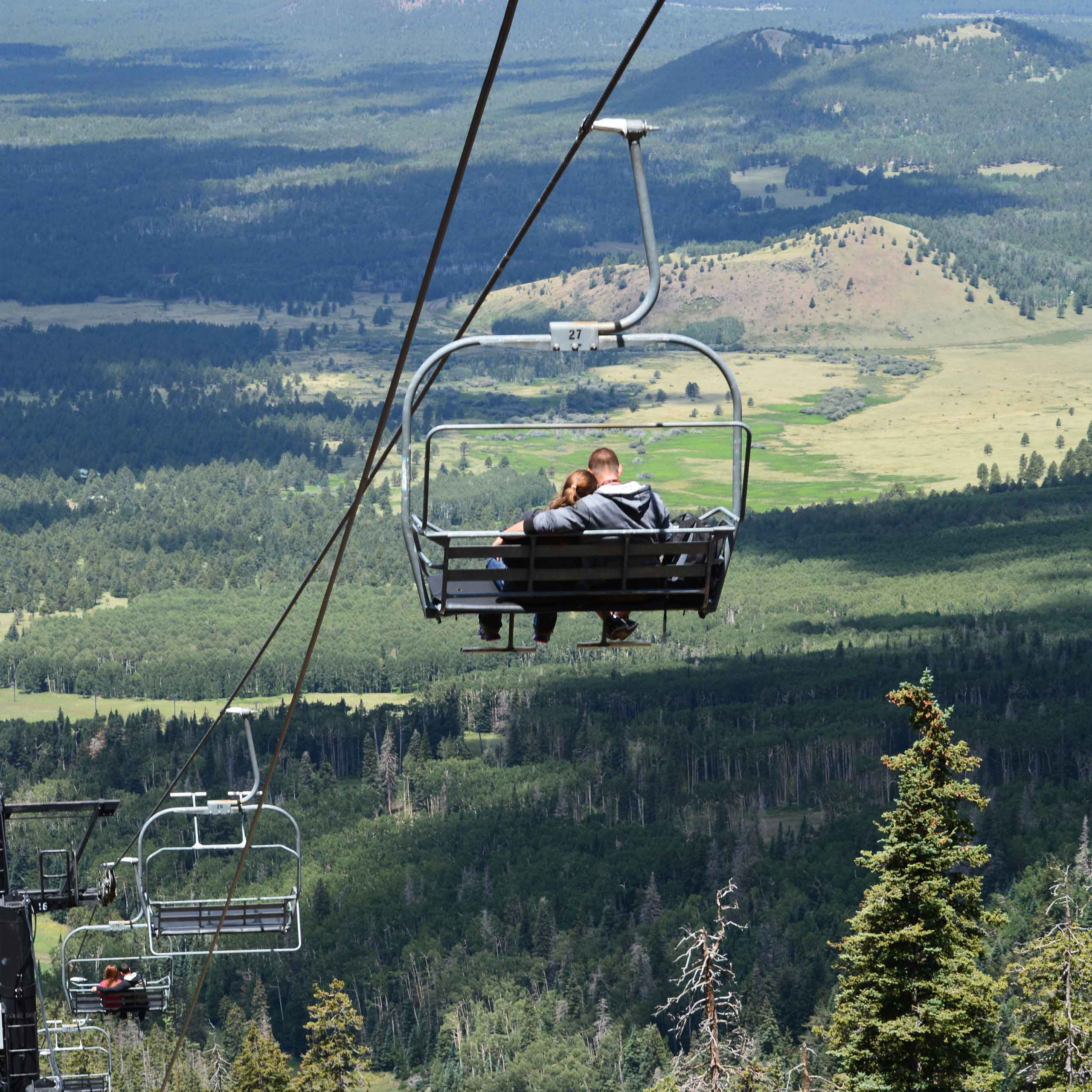 "Escape the summer heat and relax at the top of Arizona! Let the <a href=""http://arizonasnowbowl.com/?q=node/64"">Snowbowl</a> summer scenic chairlift take you to 11,500 feet for the panoramic scenery and breathtaking views. Open 10 a.m. – 4 p.m. on Fridays, Saturdays, Sundays and Mondays until mid-October."