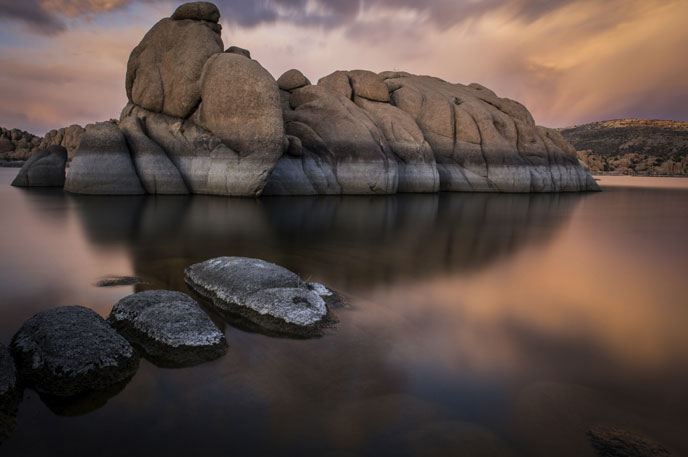 Celebrate Prescott in June with the 128th annual Prescott Frontier Days and the 35th annual Territorial Days. Pictured is Prescott's Watson Lake.