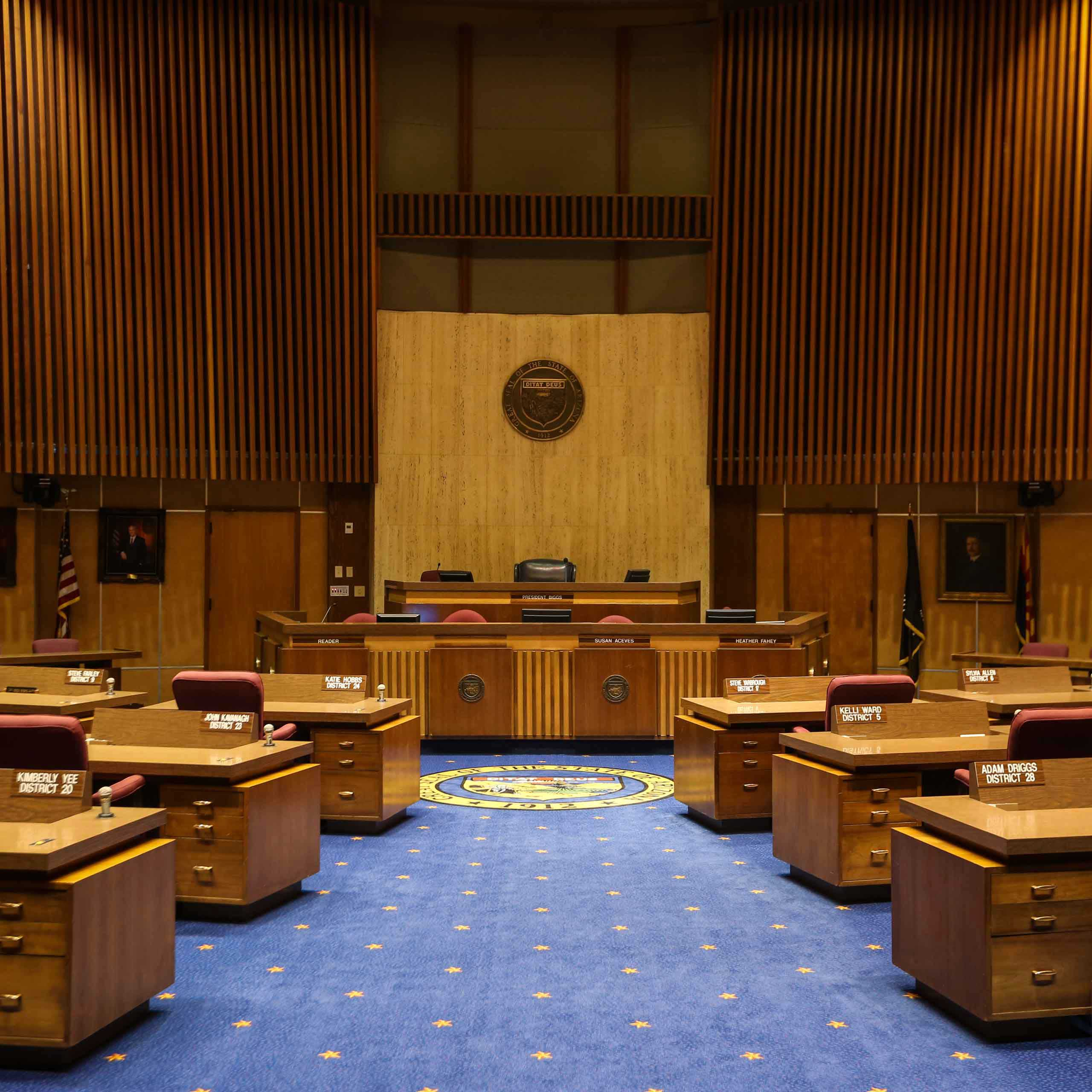 The new Arizona State Senate Chambers were dedicated on March 7th, 1960.